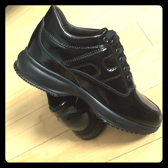 c662726b41 Hogan Shoes | Interactive Sneakers Black Patent Leather | Poshmark