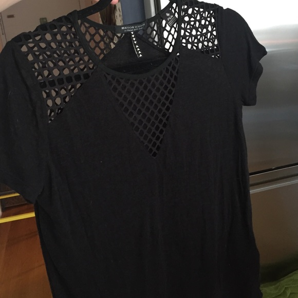 88 off maison scotch tops sale maison scotch cut out tee from melanie 39 s closet on poshmark. Black Bedroom Furniture Sets. Home Design Ideas