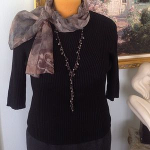 Country Shop exclusively for Marshall Field's Sweaters - Black Silk Top