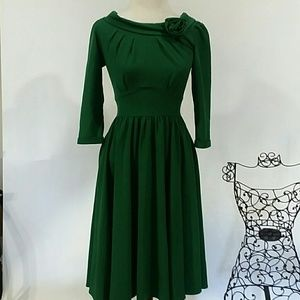 Stop Staring Dresses & Skirts - *NWT pin up girl green dress