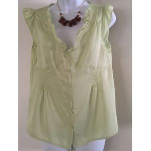 Apostrophe  Tops - Beautiful sateen shirt, pale green