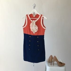 BB Dakota Dresses & Skirts - Blue & Orange Vintage Inspired Dress