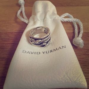 David Yurman DoubleX Crossover Ring with diamonds