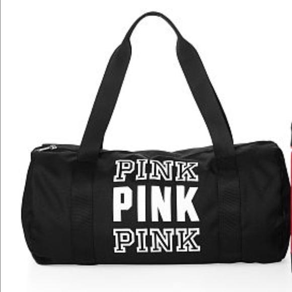 Pink Victoria Secret Duffle Bag