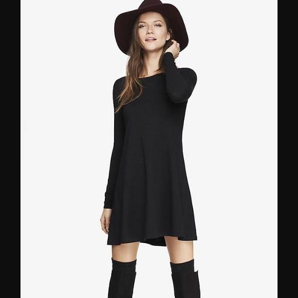 71f3798bce52 Express Dresses | Swing Dress In Black | Poshmark