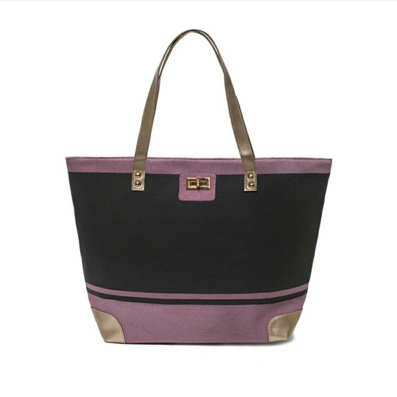 thufri Handbags - Thursday Friday Gold Toe Tote in Mauve
