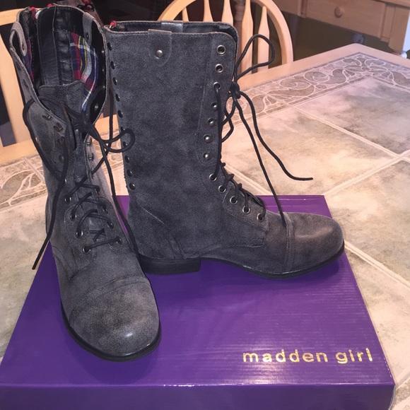 6b927d9859e NEW w BOX Madden Girl by Steve Madden Combat Boots