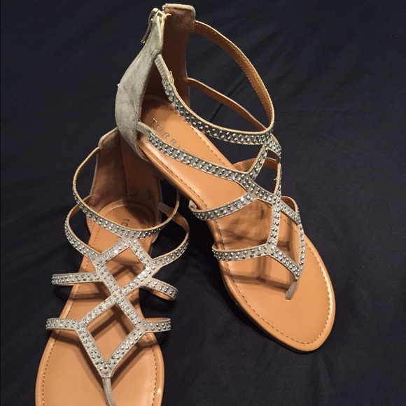 54% off torrid Shoes - ✨Torrid Gemstone Gladiator Sandals-Wide ...