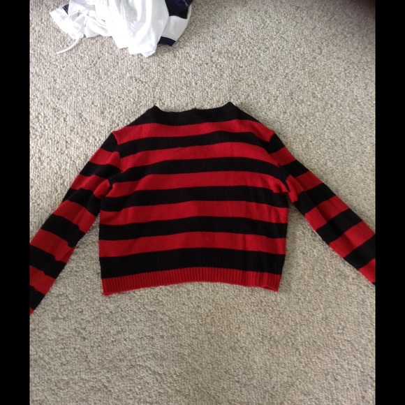 25% off H&M Sweaters - Red and black striped sweater from Claire's ...
