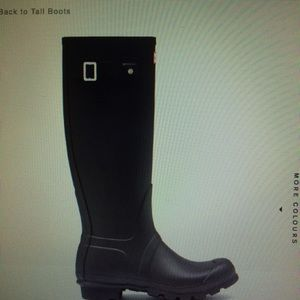**ISO** black or grey hunter boots