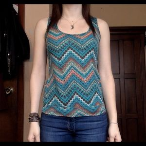 Lily Rose Tops - Lily Rose chevron bow tank top