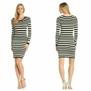 French connection striped fitted sweater dress