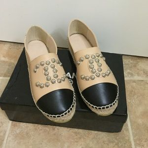 Never been worn Espadrille flats with stud detail