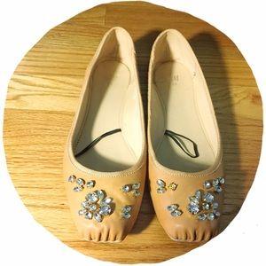 H&M Shoes - ✴️FINAL $✴️ H&M Jeweled Ballet Flats
