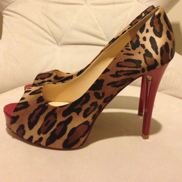 b0ff76af6832 Guess Shoes | New Leopard Print Peep Toe Wred Patent Heel | Poshmark