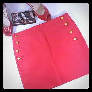 J. Crew Red Postage Stamp Sailor Mini Skirt