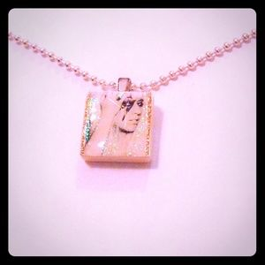 Jewelry - New Lady Gaga Irridescent Scrabble Tile Necklace