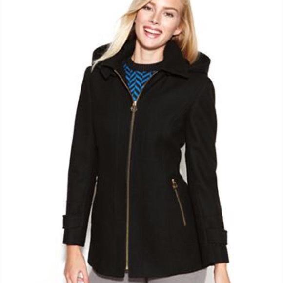 63 off michael michael kors jackets blazers black wool michael kors jacket with hood from. Black Bedroom Furniture Sets. Home Design Ideas