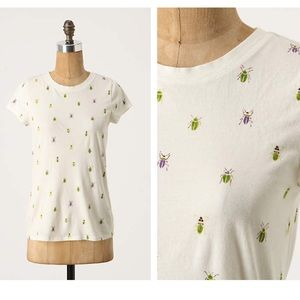 Anthropologie Printed Boy Tee - Bugs