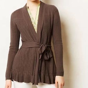 Anthropologie Skirted Cardigan