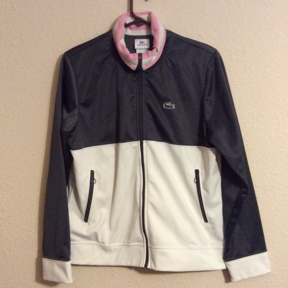 Lacoste Jackets & Blazers - Lacoste Pink & Gray Track Jacket 46 Med