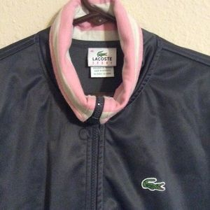 Lacoste Jackets & Coats - Lacoste Pink & Gray Track Jacket 46 Med