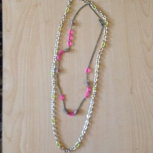 TWO JCrew necklaces with bright links