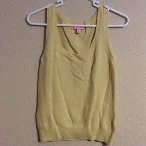 Lilly Pulitzer Cashmere Wool Yellow XS Top