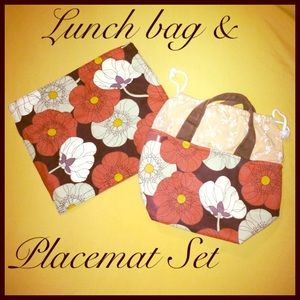 Handbags - Custom Poppies Lunch Bag & Placemat