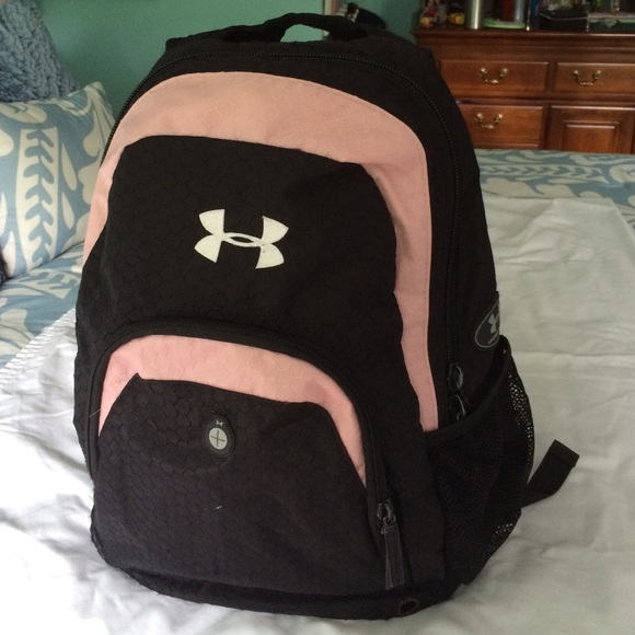 Under Armour Bags   Pink And Black Under Armor Backpack   Poshmark 44e71017a9