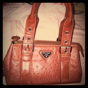 leather prada purse