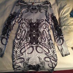 Animal print bodycon dress
