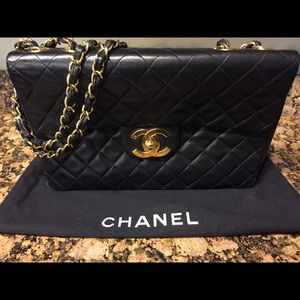 Chanel Quilted Lambskin XL Jumbo Flap Bag