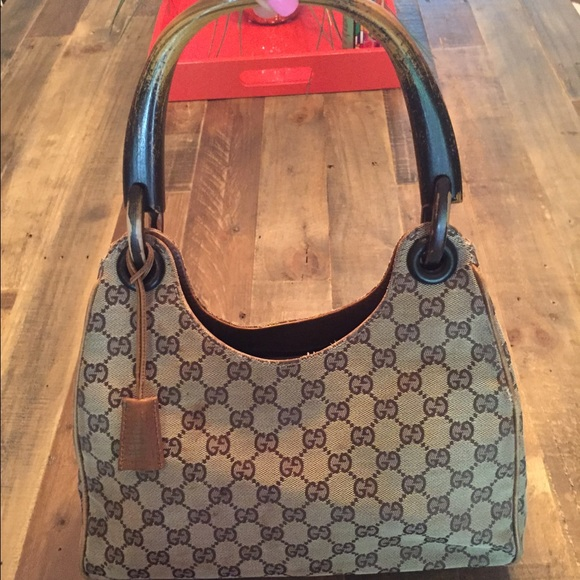 Authentic Gucci Wooden Handle Bag