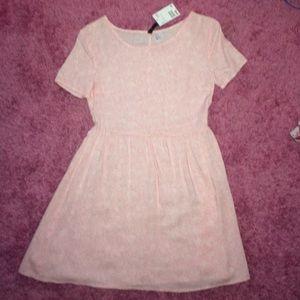 H&M Light pink Babydoll style dress! NWT