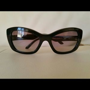 Zara crossbow bag Authentic Prada square sunglasses Dolce vita sandals