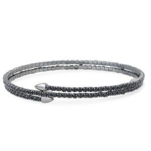 Stella & Dot Radiance Coil Bracelet - Hematite