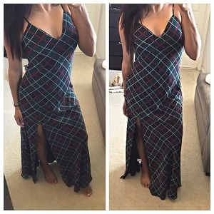 Lovers + Friends Dresses & Skirts - Closet Clear out💥 Lovers + Friends plaid maxi