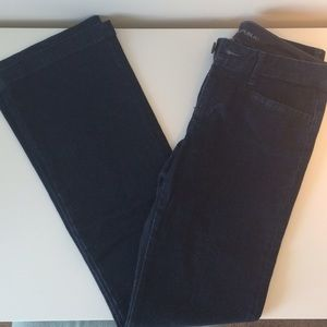 Banana Republic dark wash trouser style jeans