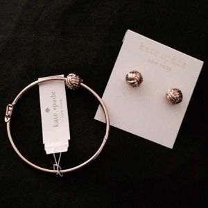 AUTHENTIC KATE SPADE EARRINGS AND BRACELET
