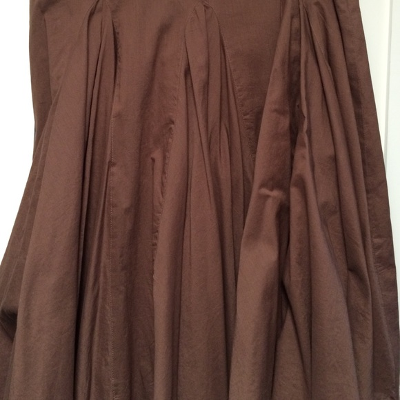 78 a n a dresses skirts brown wide pleated skirt