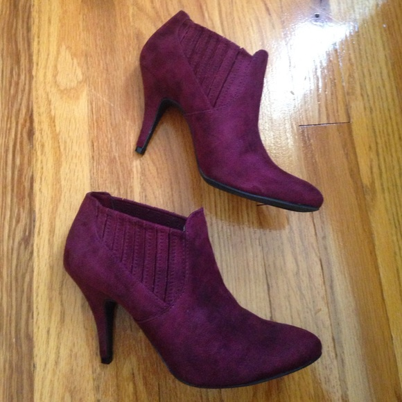 db86c1dc57c33 a.n.a Shoes - Wine Colored Booties by ANA