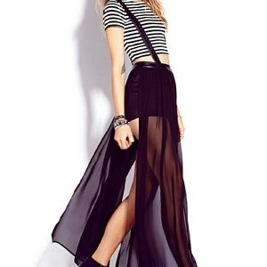 Dresses & Skirts - Striking Faux Leather Overall Dress