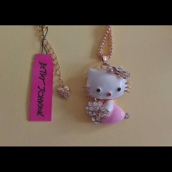 72023f9cf Betsey Johnson Jewelry | Hello Kitty Necklace | Poshmark