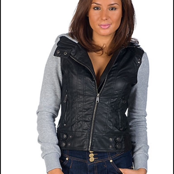 55% off Ambiance Jackets & Blazers - Faux Leather Moto Jacket w ...
