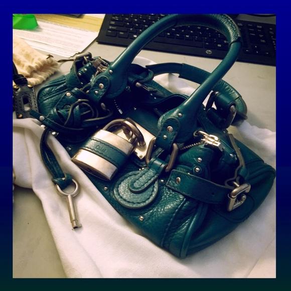 74% off Chloe Handbags - RARE Chloe ?? Teal Aqua Mini Paddington ...