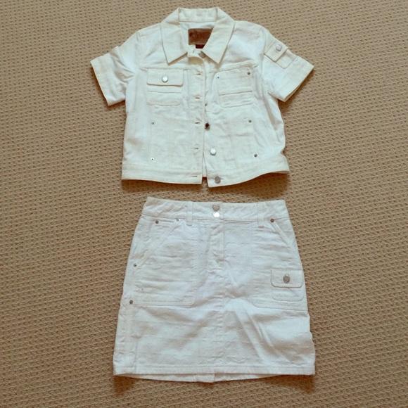 c4182a760 Louis Vuitton Jackets & Coats | Denim Skirt And Jacket Set | Poshmark