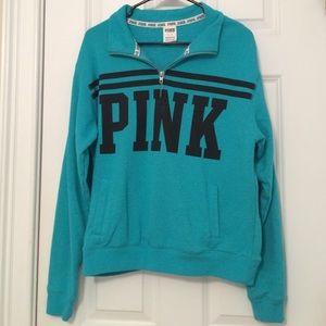 Teal VS Pink Quarter-zip Sweatshirt