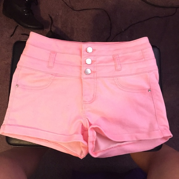43% off refuge Pants - Pastel pink high waisted shorts from ...