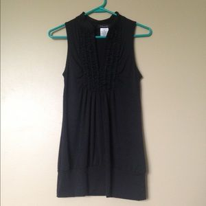 NWOT Black Sleeveless V-neck Tunic